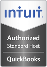 Intuit Authorized Standard Host QuickBooks Logo